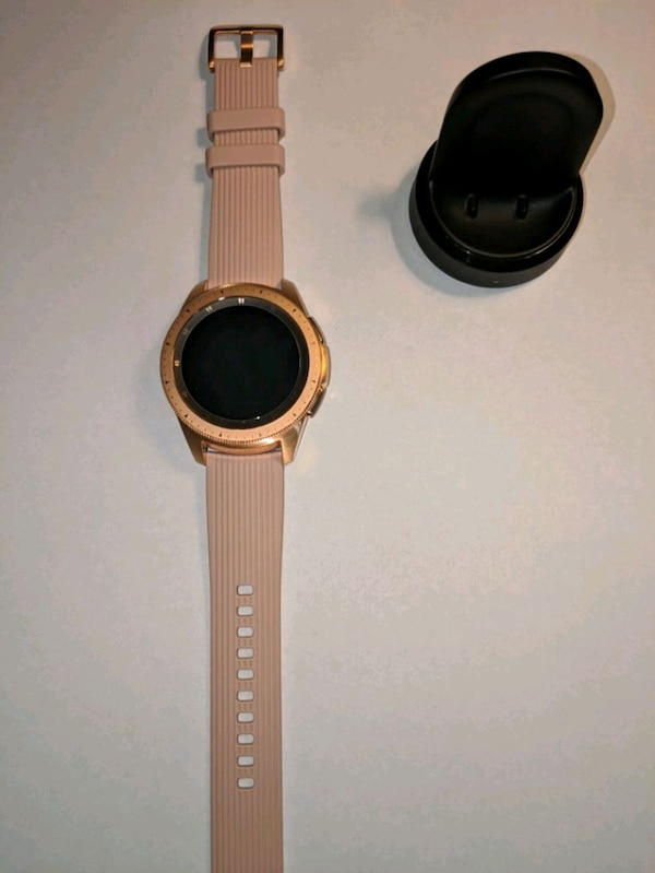 Used Samsung Galaxy Watch 42mm Smartwatch Rose Gold For Sale In