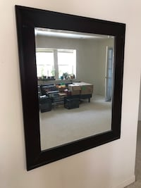 rectangular black wooden framed mirror Rockville, 20850