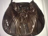 women's brown leather shoulder bag New York, 10039