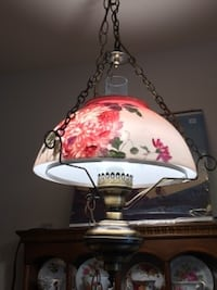 Pink and White Hanging Lamp