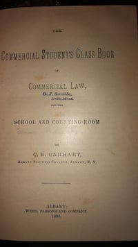 1890 Commercial students class book of commercial law Calgary, T2Y 2W5