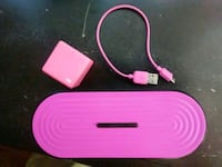 pink and white portable speaker Upland