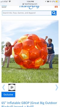 Kids giant blow up ball.  West Chester, 45011