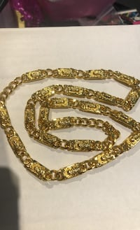 Jesus link necklace collier gold plated Laval, H7G 1X2