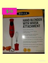 Bella hand blender with whisk attachment box Springfield, 45504
