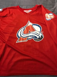 Men's Colorado Avalanche hockey jersey LINCOLN