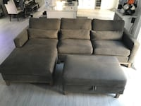Sectional Couch with Storage Ottoman MIAMI