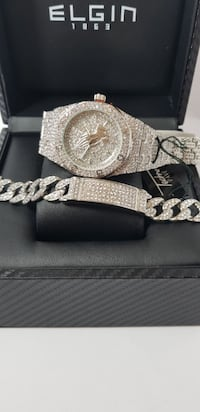 ICED OUT DIAMOND SIMULATED WATCH Natick