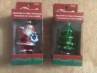 Christmas Glassblowing Ornaments Set of 2 for $4 Mississauga, L5E
