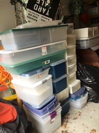 Lots of Rubbermaid, etc. storage containers.   Barrington, 08007