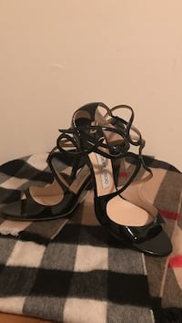black leather pee to heeled sandals Capitol Heights, 20743