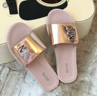Michael Kors Rose Gold Slides Abbotsford
