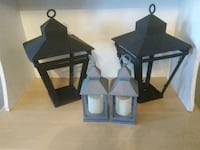 two black wooden candle holders Brampton, L6T 4B6