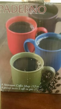 Stoneware coffee mugs (x4)