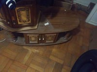 brown wooden TV stand with cabinet Toronto, M4L 1S7