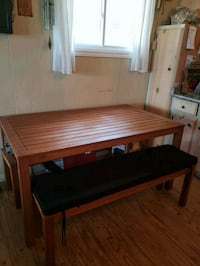 brown wooden table with chairs North York, M2M