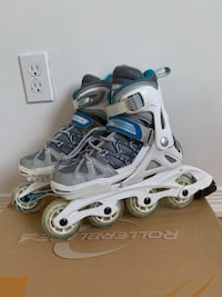 Pair of gray-and-blue inline skates Vaughan, L4H 3K5