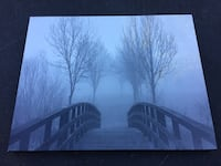 "Foggy Morning Bridge Picture 28""x22"""