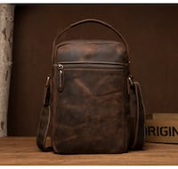 MANTIME FALCONS MCCOX HANDMADE LEATHER MESSENGER HAND BAG IN BROWN Istanbul