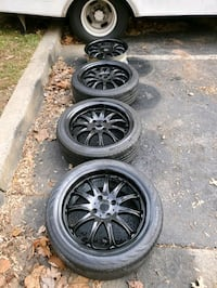 4 18 in 4x114.3 wheels rims and tires Germantown, 20874