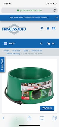 Heated water bowl Vaughan, L4L 1C2