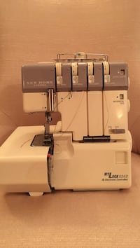 White and Janome professional electronic overlock sewing machine Bethesda, 20817