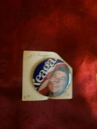 Reagan campaign button  Midwest City, 73110