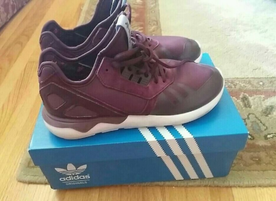 3d09aea82ff3 ... norway pair of purple adidas basketball shoes with box b3264 9dbe9