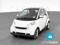 2012 smart fortwo coupe Pure Hatchback Coupe 2D White