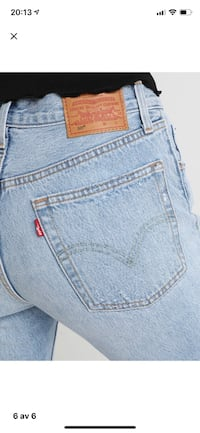 Levis 501 cropped straight jeans Oslo, 0951