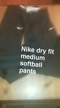 black and white Nike pants