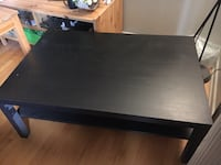 rectangular black wooden coffee table CORNERBROOK
