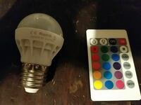 Colorful led bulb with remote