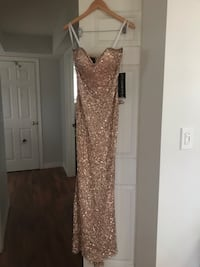 Brand New-Strapless Rose gold sequenced Gown Windsor, N9E 4V3