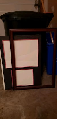 Frame with matte, no glass Silver Spring