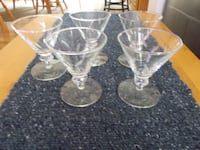 5 etched glass cocktails Transfer