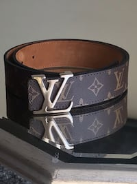 black Louis Vuitton leather belt Germantown, 20876