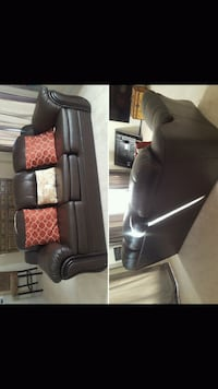black leather padded rolling armchair Brampton, L7A 0H8