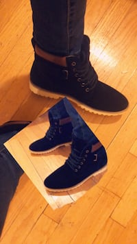pair of blue suede boots Worth, 60482