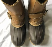 Vintage Womens LL Bean Duck Boots SZ 8 Engineer Hunting Buckle Rubber