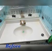 Reglazing , Vanity , countertop, kitchen cabinet, tub & tile Refinishing Alexandria, 22311