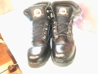 Brahma mens black leather work boots steel toes size 8 1/2 Chicago