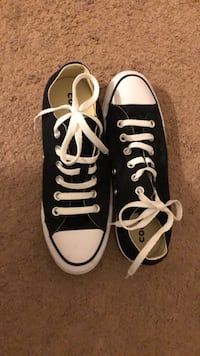 Pair of black converse all star low-top sneakers null
