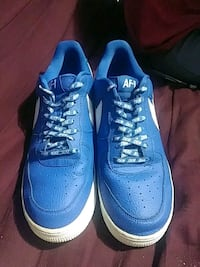 Nba blue air Force 1s low