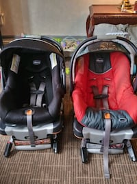 Two Chicco Key Fit 30 car seats
