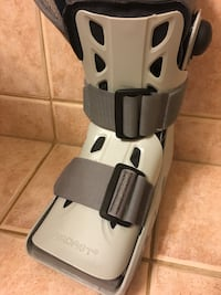 Right Air boot cast