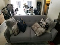white and gray 2-seat couch Kitchener, N2C 2B7