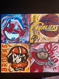 Painted Sports Teams Canvases (Cleveland and OSU) Mayfield Heights, 44124