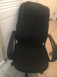 black leather office rolling chair Germantown, 20874