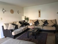 Loveseat, sofa and ottoman set w/ coffee table, side tables and lamps Cockeysville, 21030